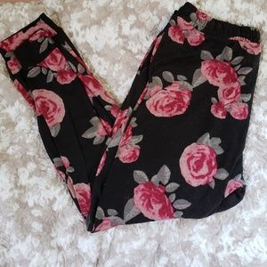 Floral lounge pants with pockets size 2X